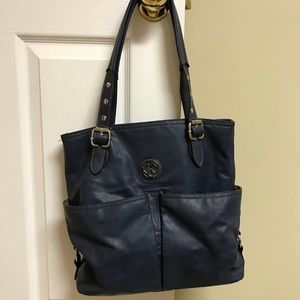 Relic Navy Handbag Purse Shoulder Pockets